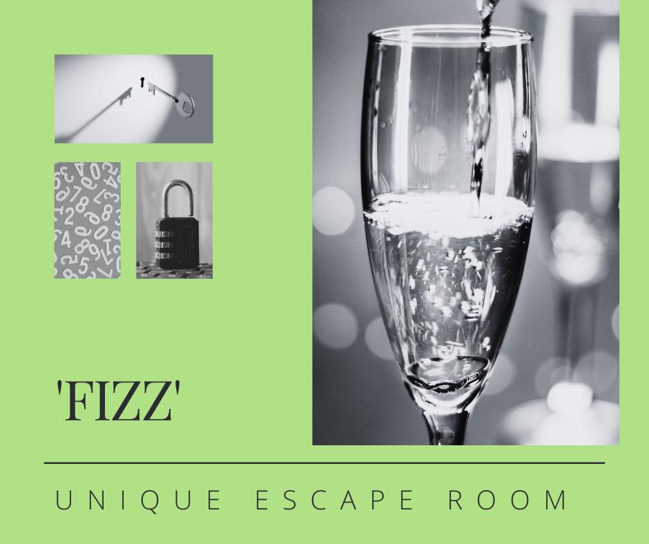 Champagne, prosecco and sparkling wine based escape room
